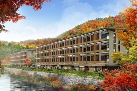 英インターコンチネンタル・ホテルズ・グループが神奈川県箱根町に開く「ホテルインディゴ」の外見イメージ