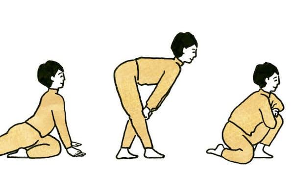 準備運動などのイメージの強いストレッチだが、実はそれ自体に「運動としての効用」があるという(イラスト 平井さくら)