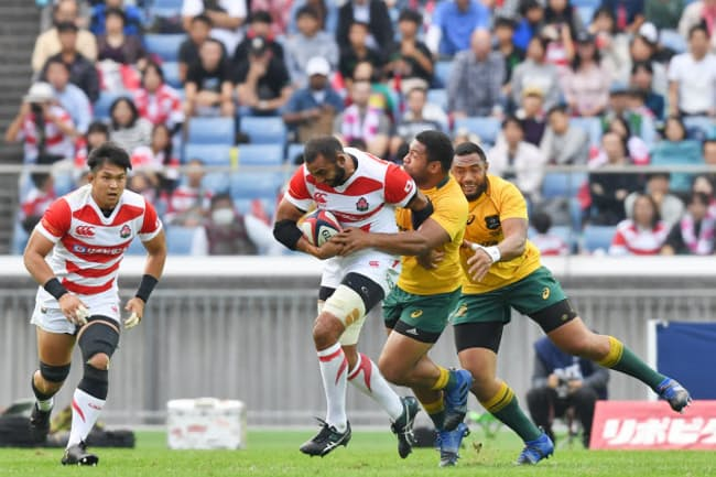 横浜、大分など12地域で試合が開かれる(17年11月、横浜市の日産スタジアムで開かれた日豪代表の親善試合)
