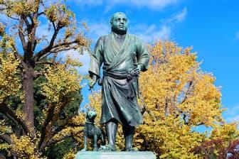 東京・上野にある西郷隆盛の銅像