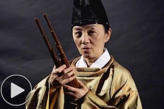 笙の宮田まゆみ 福島で雅楽に親しむ音楽祭