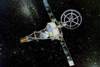 惑星探査機マリナー1号、2号の外観(イラスト:NASA)