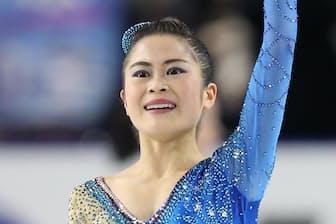 全日本選手権・女子フリーで演技する宮原知子さん