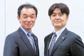 デジタルソリューションセンター長の増永明氏(右)と、同センター デジタル戦略企画部長の永谷賢二氏