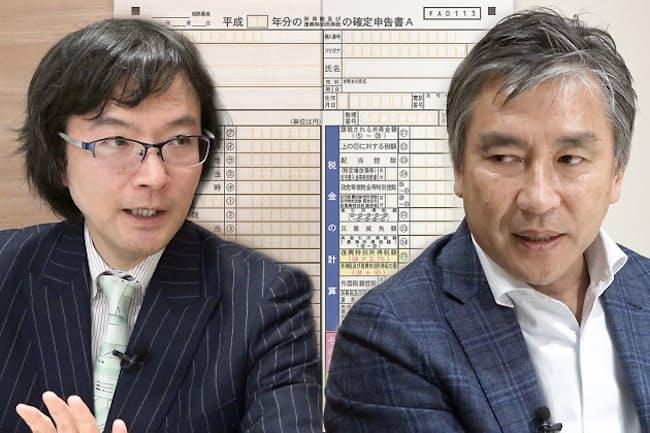 大口(左)と当マネー研究所でも連載中の税理士・内藤克さん(右)