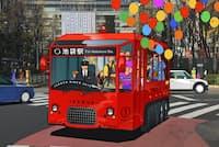 EVバスは街が変わる情熱をイメージした赤色で統一する(写真はイメージ)