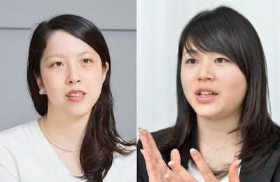 SHE社長・中山紗彩さん(左)とテーブルクロス社長・城宝薫さん