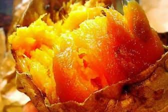 「よっしーのお芋屋さん」(神奈川県藤沢市)で販売する「安納黄金」。しっとりした食感で自然な甘みが広がる