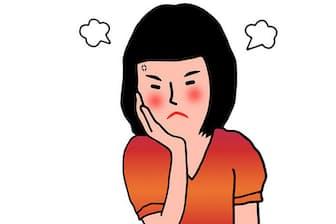「彼女、ずっと隣で何かに怒っているんです…」。画像はイメージ=PIXTA