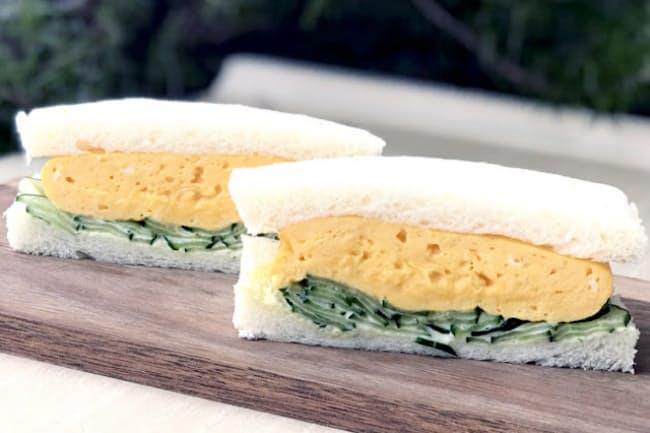 最近、東京でも人気が高まっているオムレツタイプのタマゴサンド