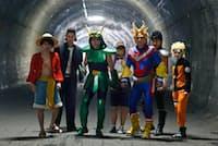 ドラマ「オー・マイ・ジャンプ!」では俳優たちが漫画の有名キャラクターのコスプレをしている