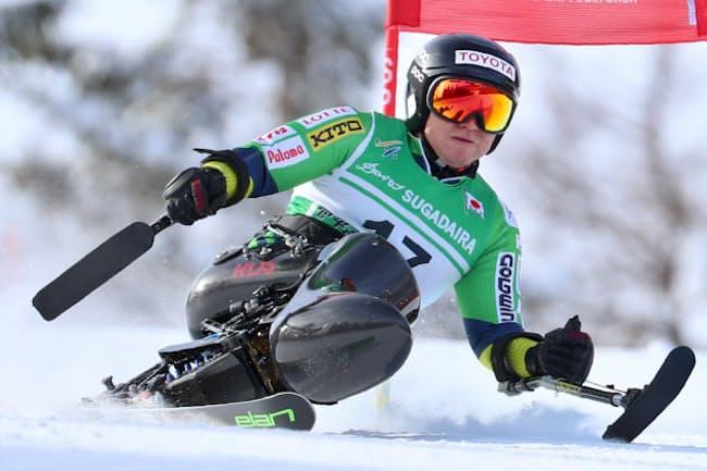 パラリンピックアルペンスキー男子座位の森井大輝選手