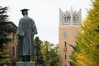 東京都新宿区にある早稲田大学。1882年に東京専門学校として開校した
