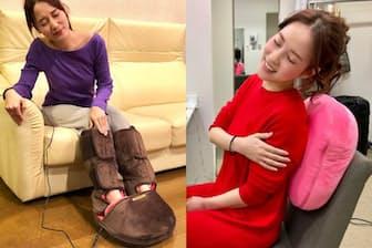 女優、タレントの奈津子さんが「もう手放せない」という癒やし系グッズ2つを紹介