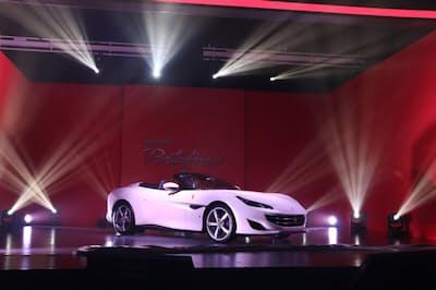 V8エンジン搭載のグランツーリスモ「カリフォルニアT」の後継車、「ポルトフィーノ」が日本でお披露目された(日経トレンディネットより)