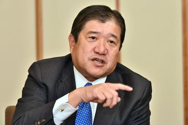 三井物産社長の安永竜夫氏(2017年11月)