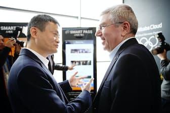 アリババ集団の馬雲会長は「デジタルで五輪を作り替える」と宣言した(2月10日、韓国・江陵で)