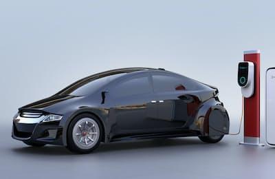 電気自動車(EV)などをテーマにした外国株式型のファンドに高水準の資金流入がみられた=PIXTA