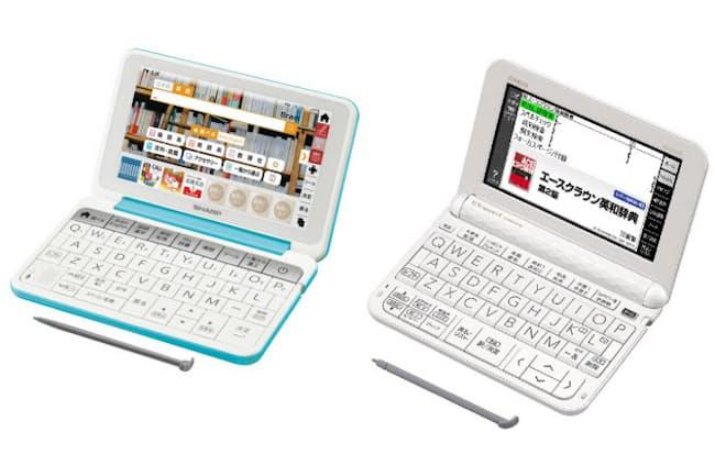 左からシャープ「Brain」 PW-SJ5(実勢価格3万4000円前後)、カシオ「EX-word」XD-Z3800(実勢価格2万5000円前後)