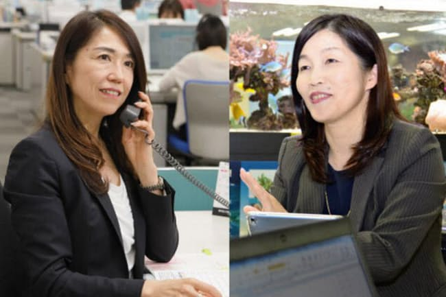 森美和子さん(左)と馬場久美子さん