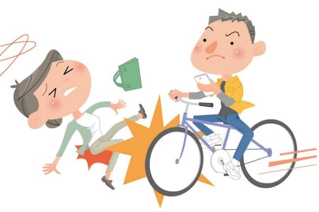 年間10万件近い自転車事故が起きており、死者も出ている=PIXTA