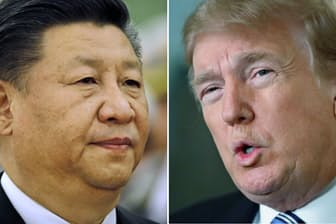 米中は貿易戦争を回避できるのか。トランプ大統領(右)と習近平主席=AP