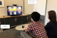 一般家庭のテレビに取り付けたセンサーから、視聴者の顔や人体のデータをリアルタイミングでトラッキング