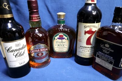 カナディアンウイスキーとシーグラムの製品