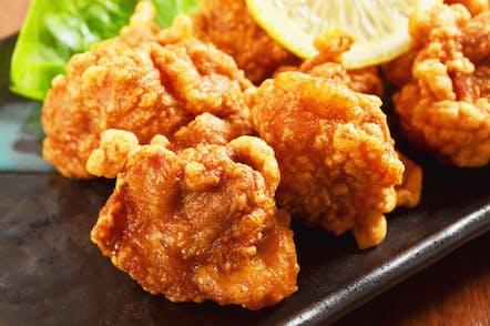 食卓でも人気の高い鶏の唐揚げ