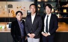 (左から)ウフルの園田社長、アクセンチュアの宗像氏、ソラコムの玉川社長