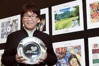 SOMPOパラリンアートカップ2018の審査員を務める漫画家の高橋陽一さん