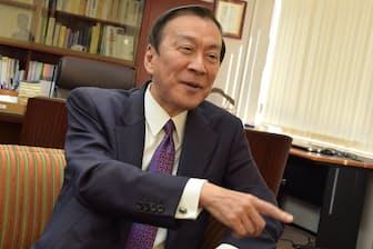 明治大学の柳谷孝理事長
