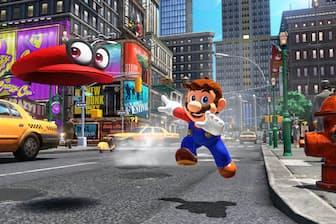 「スーパーマリオ オデッセイ」 シリーズ最新作はNintendo Switchで登場。新たなアクション「帽子投げ」で敵を倒したり、乗り移ることができる(任天堂/5980円)