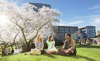 1873年設立のカンタベリー大は80カ国以上の留学生が学ぶ(クライストチャーチ)
