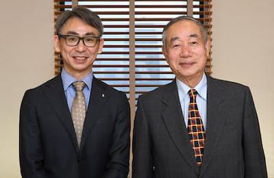 カイゼン・マイスターの小森治社長(右)と、ローランド・ベルガーの長島聡社長
