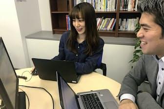 育児をしながらチームリーダーを担うエン・ジャパンの熊倉彩杏さん