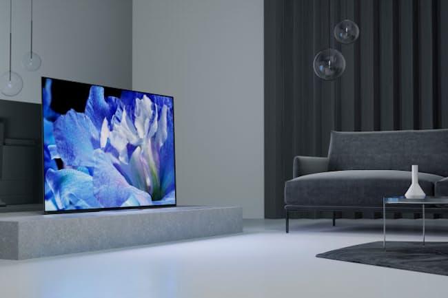 ソニーの有機ELテレビ「BRAVIA A8F」(画面ははめ込み合成)