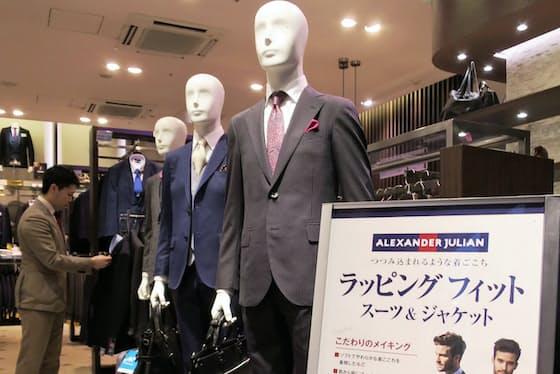 生地や着心地の良さが40~50代のビジネスマンから支持されている(東京都港区の店舗)