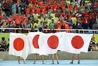 「日本代表」が活躍するインパクトは大きい(写真はリオデジャネイロ五輪の男子陸上400メートルリレー決勝)=ロイター