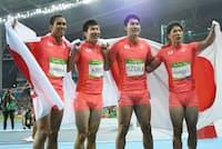 「日本代表」が活躍するインパクトは大きい(写真はリオ五輪の陸上男子400メートルリレー決勝)