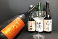 海外から高い評価を受ける日本酒が増えている(2018年IWC日本酒部門でゴールド賞を受けた酒の一部)