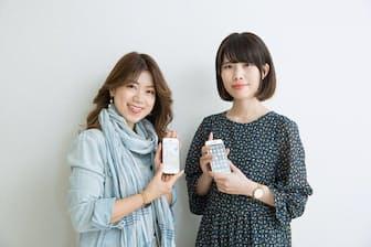 ビューティーライフデザイナー HALU(はる)さん(写真左)とラブグラフ取締役CCO 村田あつみ(むらた あつみ)さん(写真右)