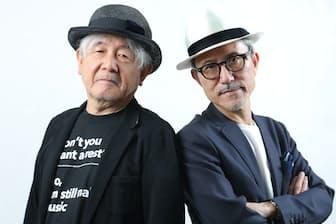 ソロとは違う面白さを追求する鈴木慶一(左)と高橋幸宏