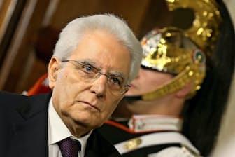 イタリアのマッタレッラ大統領(5月27日、ローマ)=ロイター