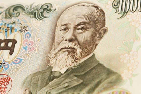 旧千円札に描かれた伊藤博文の肖像=PIXTA