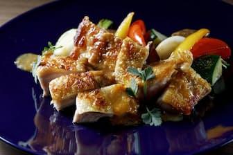 uchi(ウチ)お薦め、美桜鶏のロースト 生姜甘酒ソース