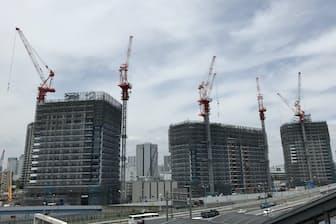 2019年秋の完成を目指して建設が進むシティタワーズ東京ベイ