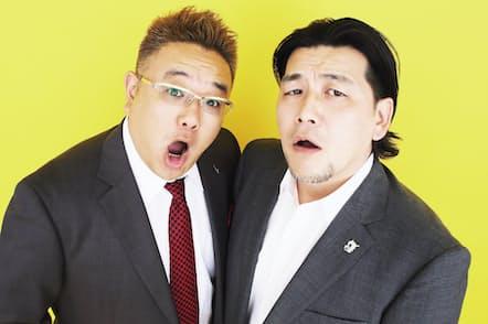 左:伊達みきお 1974年9月5日生まれ。右:富澤たけし 1974年4月30日生まれ。共に宮城県出身。レギュラーは文中のほかに『バイキング』(フジテレビ系)や『明日へつなげよう 未来塾』(NHK総合)など(写真:中村嘉昭)