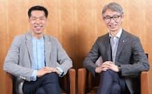 伊藤慎介社長(左)と長島聡社長