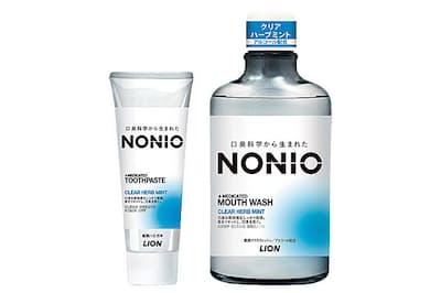 ライオンの歯磨き粉・洗口液シリーズ「NONIO」